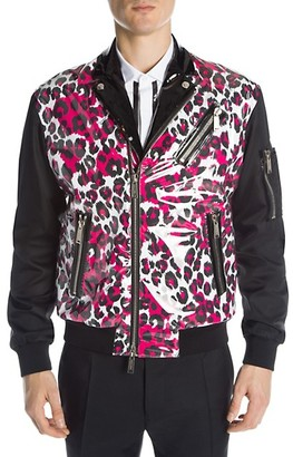 DSQUARED2 Leopard Moto Jacket