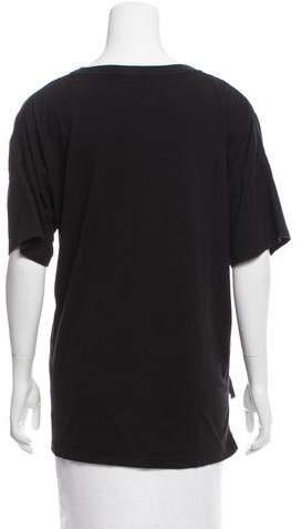 BLK DNM Short Sleeve High-Low Top