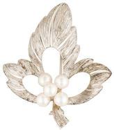 Mikimoto Pearl Leaf Brooch