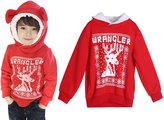 Chinatera Little Boys Spring Jacket Kids Pixel Deer Cute Ears Pullover Hoodie Outwears Coat