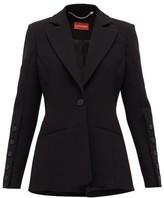 Altuzarra Single-breasted Grain De Poudre Suit Jacket - Womens - Black