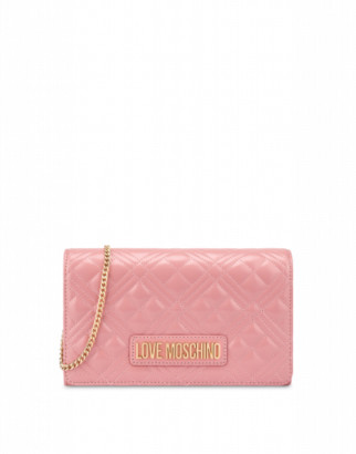 Love Moschino Laminated Evening Bag Woman Pink Size U It - (one Size Us)