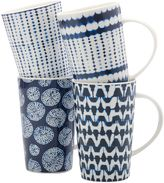 Maxwell & Williams Maxwell & WilliamsTM Shibori Mugs in Indigo (Set of 4)