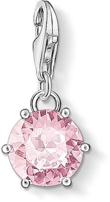 Thomas Sabo Women Charm Round 925 Sterling Silver with rose stone