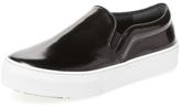 Leather Platform Slip-On Sneaker
