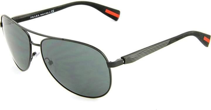 Prada Men's PS51OS-1BO1A1-62 Aviator Sunglasses