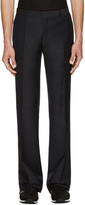 Burberry Navy Mohair-blend Trousers