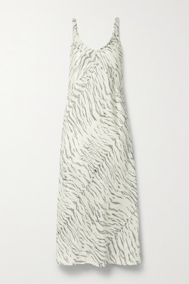 Ksubi Genesis Printed Silk-satin Midi Dress - White