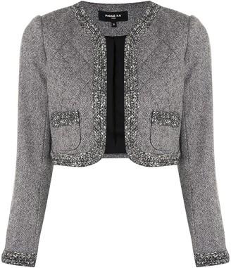Paule Ka Crochet-Detail Cropped Jacket