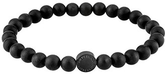 Liebeskind Berlin Beads 6 mm with logo tag in stainless steel. one size Ip Black