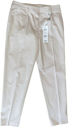 Basler Beige Cotton Trousers for Women
