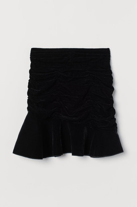 H&M Velvet Skirt - Black
