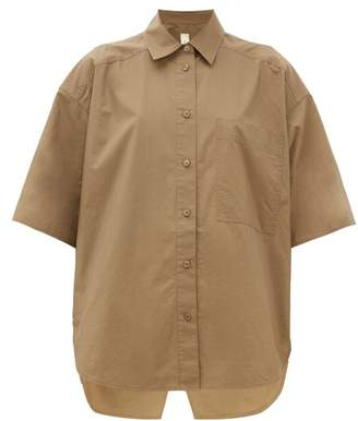 Lee Mathews - Workroom Patch Pocket Cotton Shirt - Womens - Khaki