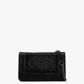 Daniel Pequetie Black Suede Embellished Clutch Bag