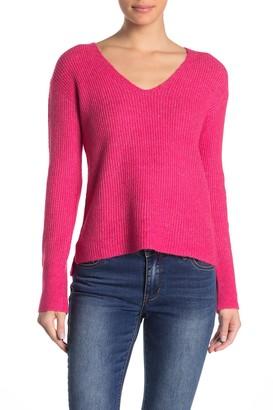 Free Press V-Neck Knit Sweater