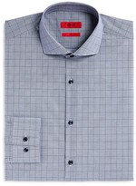 HUGO Jason Micro Gingham Tonal Overcheck Slim Fit Dress Shirt