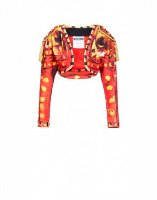 Moschino Scuba Crop Jacket Matador Woman Red Size 38 It - (4 Us)