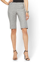 New York & Co. 7th Avenue - Slim-Leg Bermuda Short - Signature - Linen/Cotton