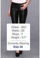Blank NYC The Spray On Vegan Leather Skinny in Blacked Out Women's Casual Pants