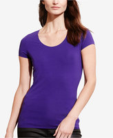 Lauren Ralph Lauren Stretch Scoop Neck T-Shirt