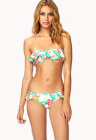 Forever 21 Ruffled Aloha Bikini Bottom