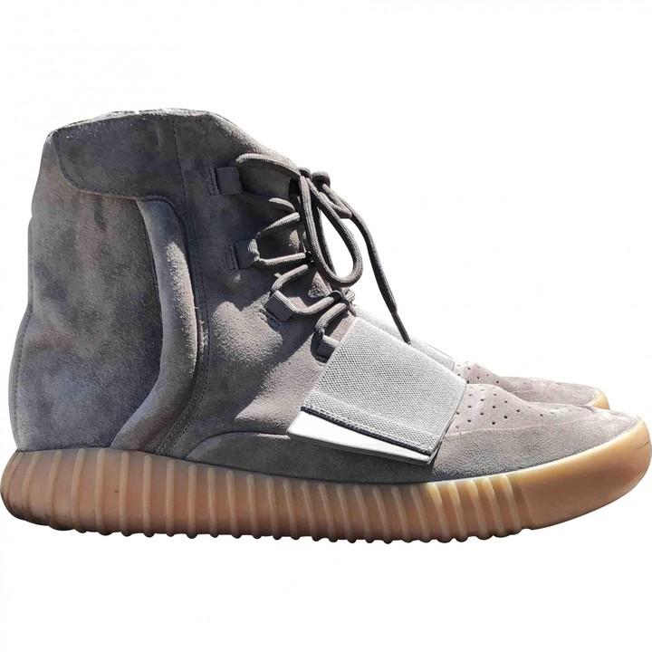Yeezy X Adidas Boost 750 Grey Leather Trainers