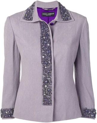 Dolce & Gabbana Pre Owned Bead-Embellished Jacket