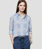LOFT Lou & Grey Plaidstripe Button Down Shirt