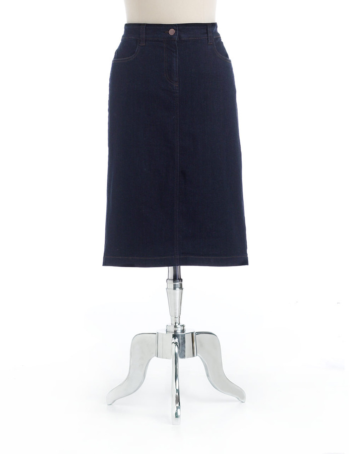Eileen Fisher Stretch Denim Pencil Skirt