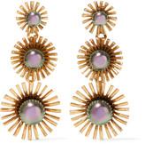 Elizabeth Cole Leonie 24-karat gold-plated Swarovski pearl earrings