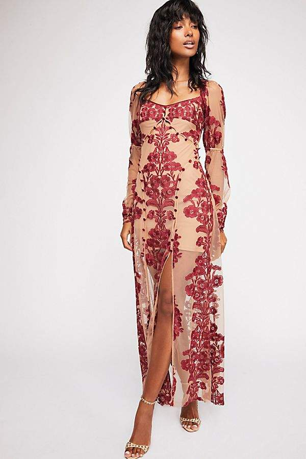 For Love & Lemons Temecula Fall Maxi Dress