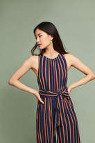 Plenty by Tracy Reese Tie-Front Striped Jumpsuit