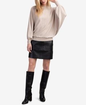 Trina Turk Fonda Leather Mini Skirt