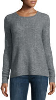 Liz Claiborne Long-Sleeve Crewneck Sweater with Lurex