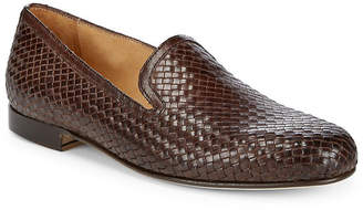 Saks Fifth Avenue Made In Italy Woven Leather Loafers