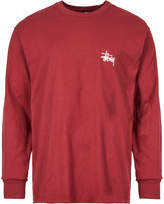 Stussy Basic Long Sleeve T Shirt - Wine