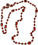 One Kings Lane Vintage 1980s Chanel Red Chicklet Necklace