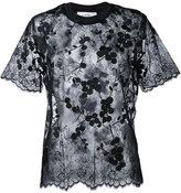 Carven semi sheer blouse - women - Cotton/Nylon/Polyester - 36