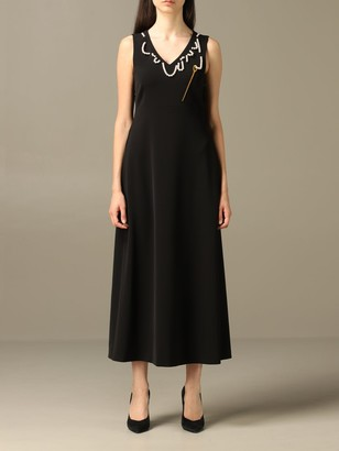 Boutique Moschino Dress Dress With Needle And String Of Pearls