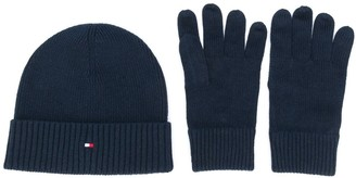 Tommy Hilfiger Beanie And Gloves Set
