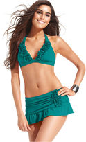 Kenneth Cole Swimsuit, Halter Ruffle Bikini Top