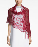 Betsey Johnson BLUE BY Sequin and Fringe Evening Wrap