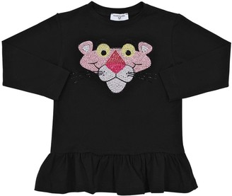 MonnaLisa Pink Panther L/s Cotton Jersey T-shirt