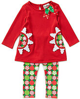 Rare Editions Baby Girls 12-24 Months Christmas Snowflake Top and Leggings Set