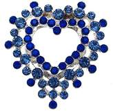 AJ Fashion Jewellery COTINUS tone 2 Tone Blue Crystal Scarf Clip