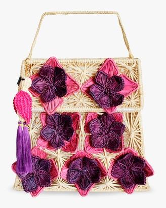 Mercedes Salazar Seven Flowers Woven Parrot Handbag