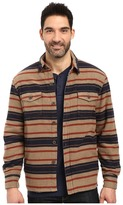 True Grit Summit Baja Stripe Shirt Jacket with Sherpa Lining