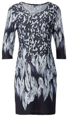 Dorothy Perkins Womens *Izabel London Grey Feather Print Shift Dress, Grey