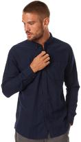 Katin Clyde Woven Flannel Ls Mens Shirt Blue