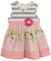 Rare Editions Mixed-Print Dress, Baby Girls (0-24 Months)